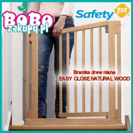 SAFETY 1ST BRAMKA DREWNIANA EASY CLOSE NATURAL WOOD