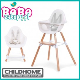 Childhome Evolu 2 Natural/White krzesełko do karmienia
