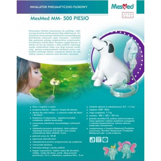 MesMed Inhalator pneumatyczno - tłokowy MM-500 PIESEK