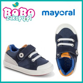 MAYORAL 41800 Buty sportowe na rzepy dla chłopca Granat