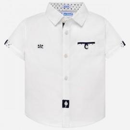MAYORAL 1127 Koszulka z krótkim rękawem dla chłopca Biały