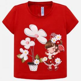 MAYORAL 1014 Koszulka z krótkim rękawem i nadrukiem Czerwony