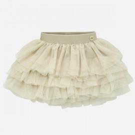 MAYORAL 1901 Asymetryczna spódnica z falban dla dziewczynki Szampan