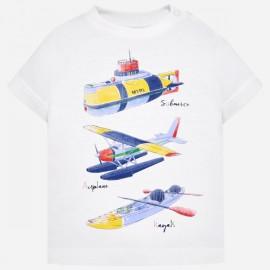 MAYORAL 1029 Koszulka Sporty dla chłopca Biały