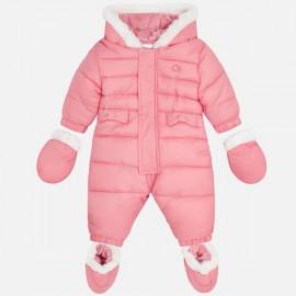 MAYORAL 2618 Kombinezon pikowany dla niemowlaka Blush