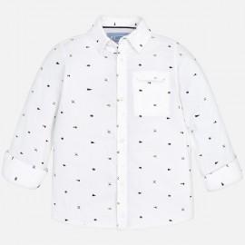 MAYORAL 4140 Koszula z długim rękawem Biały