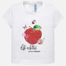 MAYORAL 1014 Koszulka z krótkim rękawem Biały