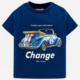 MAYORAL 1024 Koszulka z nadrukiem dla chłopca Nieb-metal