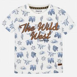 MAYORAL 3036.064 Koszulka we wzory Śmietankowy