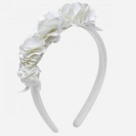 MAYORAL 10544 Opaska kwiatki Kremowy
