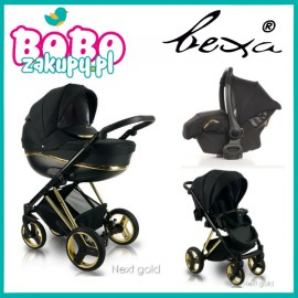 BEXA Next GOLD wózek wielofunkcyjny 3w1+ fotelik KITE +adaptery