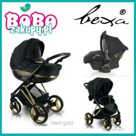 BEXA Next GOLD wózek wielofunkcyjny 3w1+ fotelik KITE gold +adaptery