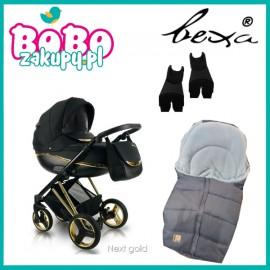 BEXA Next GOLD wózek wielofunkcyjny 2w1+ śpiworek+adaptery