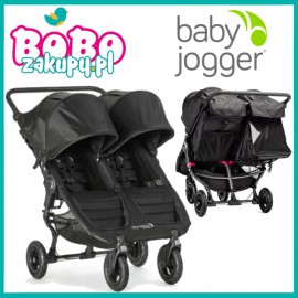 BABY JOGGER CITI MINI DOUBLE GT BLACK + FOLIA