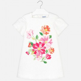 MAYORAL 6928.068 Sukienka z dzianiny w kwiaty