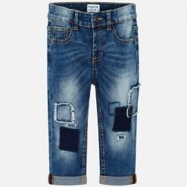 MAYORAL 3523.005 Długie spodnie fit z łatami dla chłopca