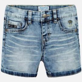 MAYORAL 3233.021 Bermudy jeans z efektem sprania