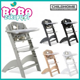 Childhome Lambda 3 Krzesełko do karmienia Drewniane