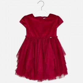 Mayoral 4924.085 Sukienka tiulowa łączona