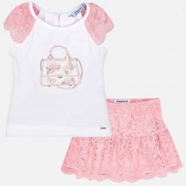 MAYORAL 3958.072 Komplet koszulka i spódnica