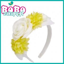MAYORAL 10589.033 Opaska z kwiatami Kremowy