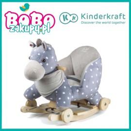Kinderkraft Grający bujak i jezdzik Konik na biegunach 2w1