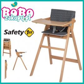 Safety 1st Nordik Natural Wood KRZESEŁKO z wkładką Geometric