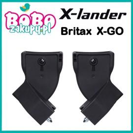 ADAPTERY do montażu fotelika Britax na stelażu wózka X-LANDER X-GO BLACK