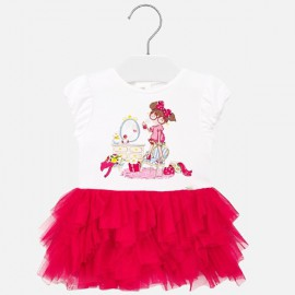Mayoral 1922.021 Sukienka tiul dla dziewczynki Baby