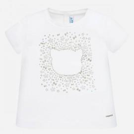 Mayoral 105.090 Koszulka z krótkim rękawem dla dziewczynki