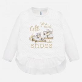 Mayoral 1069.018 Koszulka zfalbaną dla dziewczynki