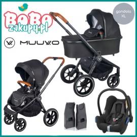 Muuvo Quick 2.0 wózek wielofunkcyjny 2w1+ fotelik CabrioFix z adapterami