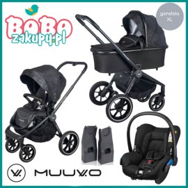 Muuvo Quick 2.0 wózek wielofunkcyjny 2w1+ fotelik Maxi Cosi Citi