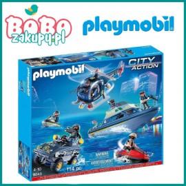 Playmobil 9043 Zestaw Łódź policyjna z amfibią i helikopterem