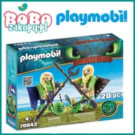 Playmobil 70042 Figurki Mieczyk i Szpadka w zbroi Dragons