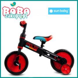 Sun Baby Rowerek biegowy MOLTO kółka boczne, pedały
