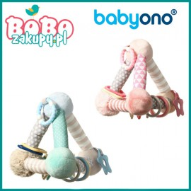 BABYONO 898 Zabawka edukacyjna PINK PYRAMID