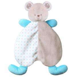 BABYONO Przytulanka dla niemowląt – kocyk BEAR TONY