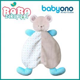 BABYONO 1236 Przytulanka dla niemowląt – kocyk BEAR TONY