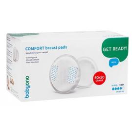 BABYONO Wkładki laktacyjne Comfort 50+20szt. gratis
