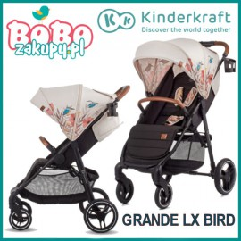 Wózek spacerowy Kinderkraft Grande LX Bird kolekcja Freedom