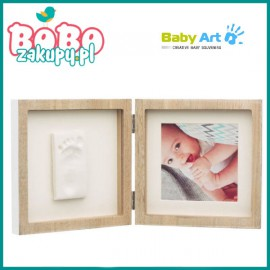 BABY ART Square Frame Wooden Podwójna RAMKA ODCISK
