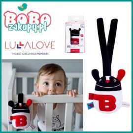 Lullalove BABY MR B kontrastowa grzechotka sensoryczna